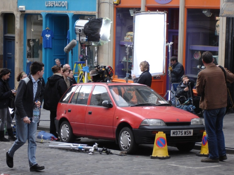 Hallam Foe filming on Cockburn Street, courtesy Edinburgh Film Focus