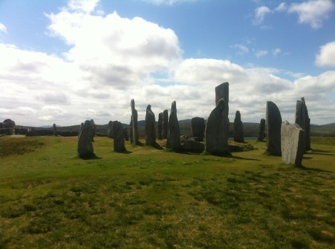 Approaching Callanish Standing Stones