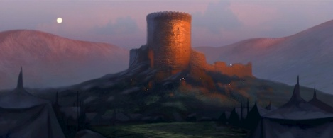 Concept art for Brave's DunBroch castle