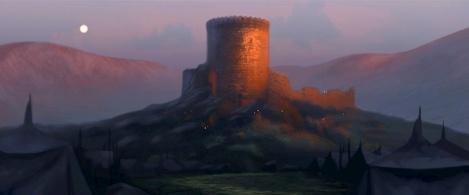 Concept art for Brave's DunBroch castle