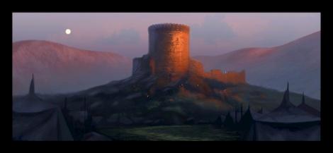 Concept artwork of DunBroch castle