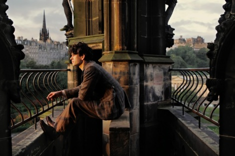 Ben Wishaw films Cloud Atlas in Edinburgh